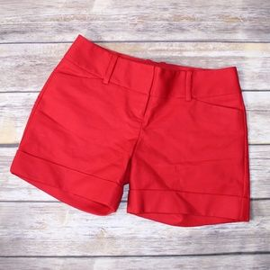 The Limited Red Drew Fit Cuffed Shorts Size 0